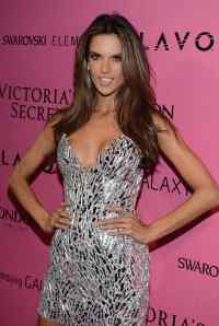 Alessandra Ambrossio silver dress Victoria Secret Fashion Show Afterparty