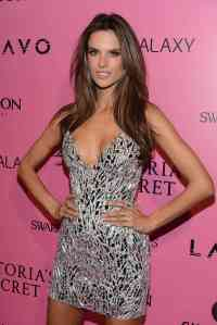 Alessandra Ambrossio silver dress Victoria Secret Fashion Show Afterparty02