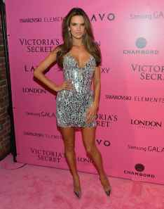 Alessandra Ambrossio silver dress Victoria Secret Fashion Show Afterparty03