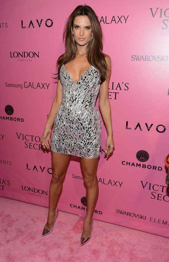Alessandra Ambrossio silver dress Victoria Secret Fashion Show Afterparty04